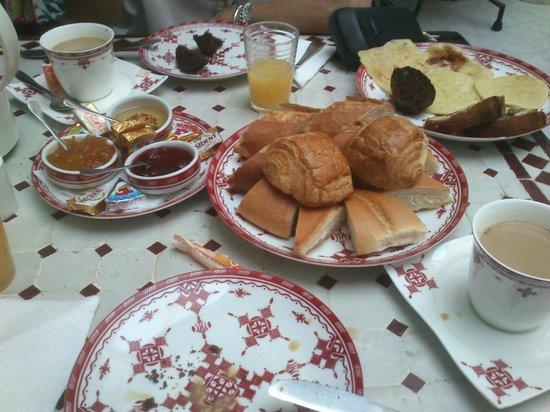 Riad Mirage : Desayuno