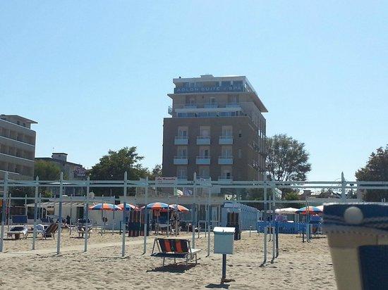 Hotel Adlon: Strandseite zu Hotel