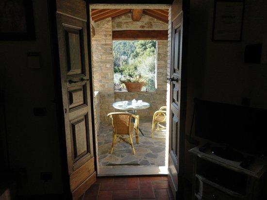 Agriturismo Rocca di Pierle: Blick auf unsere Terrasse