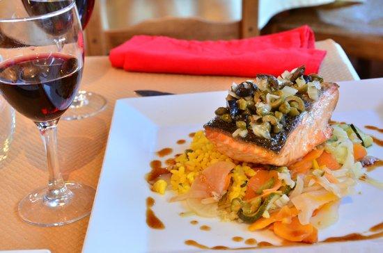 Restaurant L'Omaha - salmon a la planche