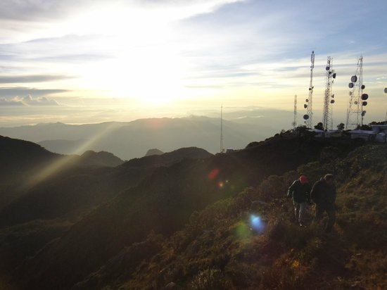 Volcan Baru National Park: View from Summit and tower station at the end of the path