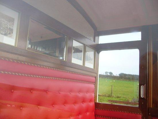 Lynton & Barnstaple Railway: inside first class