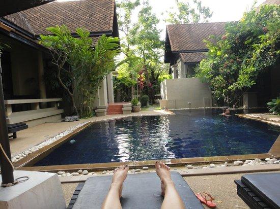 Montra Hotel: Auf Grund der geringen Anzahl der Villen, hatten wir den Pool /Anlage meist für uns allein