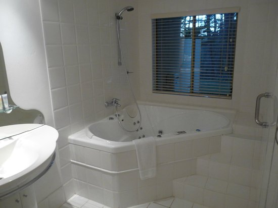 Falls Mountain Retreat Blue Mountains : Room 17, bathroom with spa for two