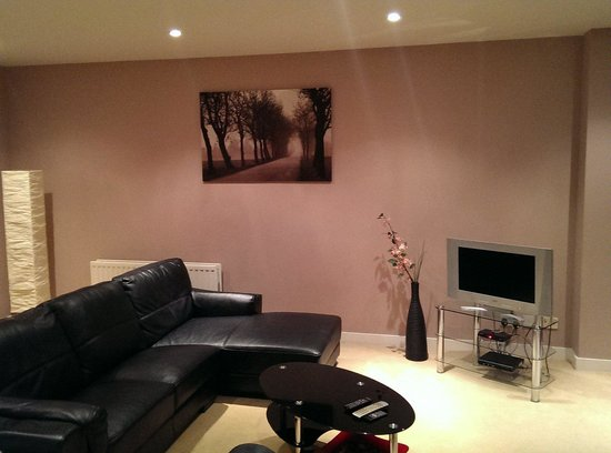 Hot-el-apartments Edinburgh Waterfront: Living room