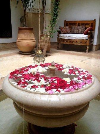 Riad Hayati: Fountain in the court yard