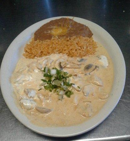 Mario's Mexican Restaurant: Shrimp (Camarons) a la creme