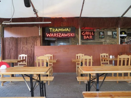 Warsaw Tram Food Bar: The setting
