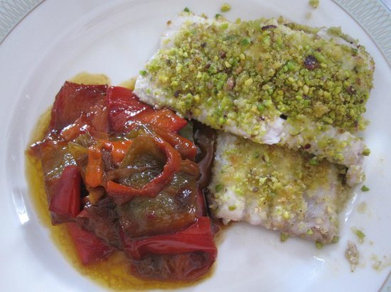 Sicilian Demo Cooking: Pistachio crusted fish