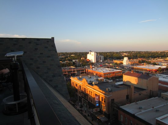 Hotel Alex Johnson Rapid City, Curio Collection by Hilton: View from roof top bar - lovely evening