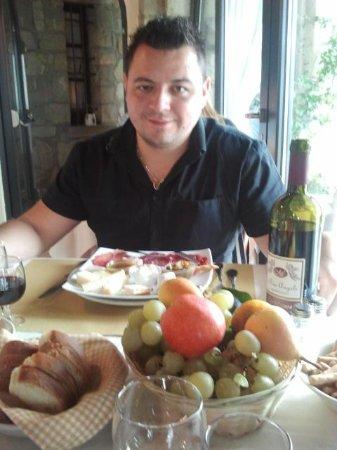 Ome, Italien: antipasto....