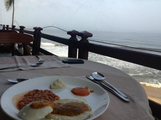 Hindustan Beach Retreat: view from roof top restaurant