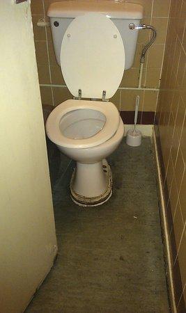 Duke of York: Toilet number 2,dirty surroundings and broken toilet seat.
