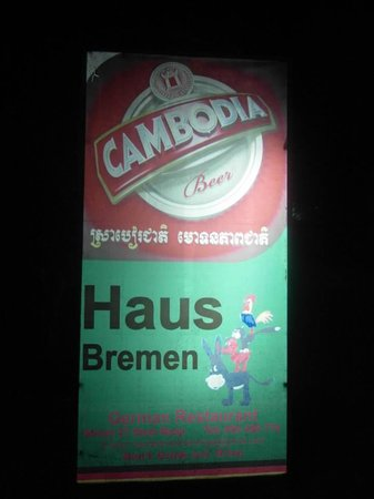 Haus Bremen: I was very happy each time I saw this sign :)