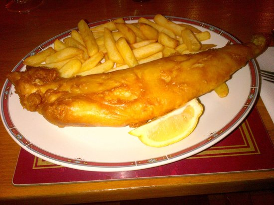 The Nutley Arms Cafe: My Friday night fish supper at Nutley Arms (27/9/13)