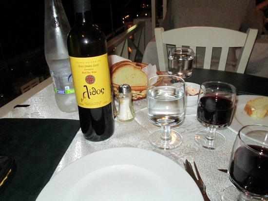 Lithos : Our meal- great wine too!