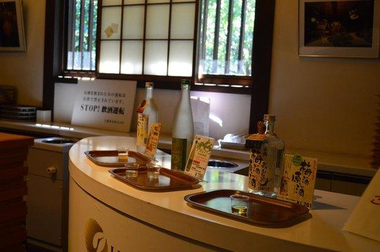 Hakutsuru Sake Brauereimuseum: Sake tasting