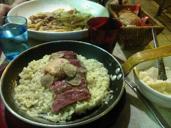 Geppetto : risotto with magret de canard and foie gras and truffles