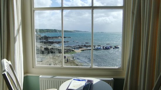 Godolphin Arms: view from bay window room 10