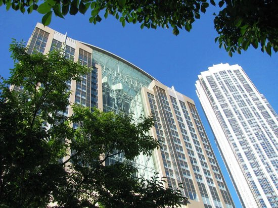 Embassy Suites by Hilton Chicago Downtown Magnificent Mile: Outside; looking up at hotel