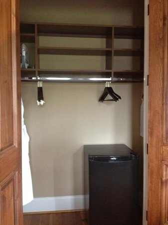 Bleckley Inn: room 2-fridge in closet- handy