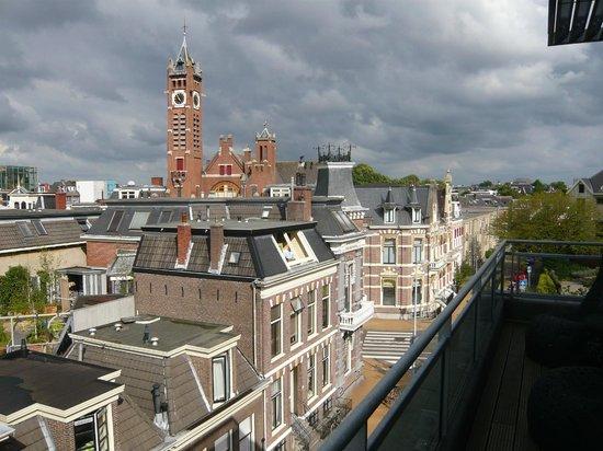 Asgard Hotel: Blick von der Dachterrasse der suite
