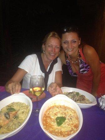 La Bruschetta: owner and Eva