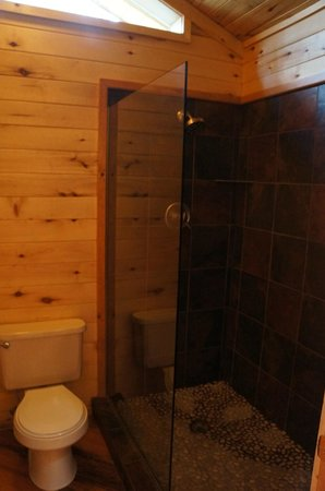 Ruidoso Lodge Cabins: bathroom