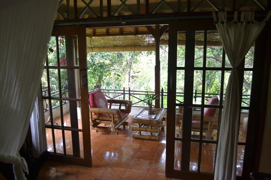 Swasti Eco Cottages : Terrasse