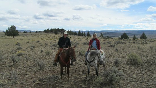 Steens Mountain Guest Ranch: Here we are in the high country, Steens Mtn in background