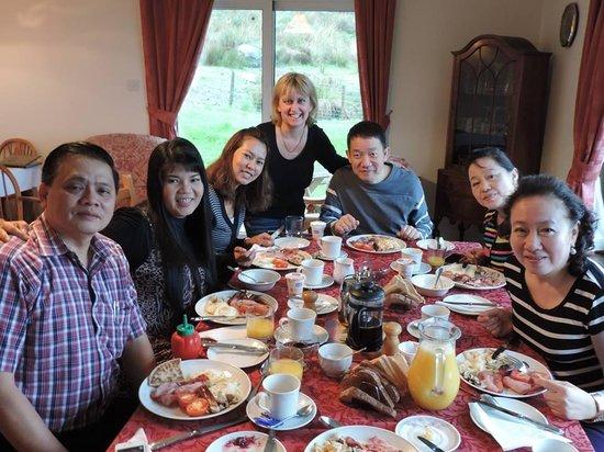 Corries B & B: Kristeen & our breakfast