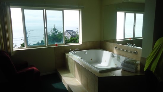 The Edgecliff Motel: great view from tub for 2