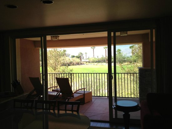 Marriott's Shadow Ridge II- The Enclaves : Enclaves balcony overlooking the golf course.