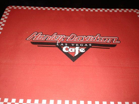 Harley Davidson Las Vegas Cafe: Nas mesas
