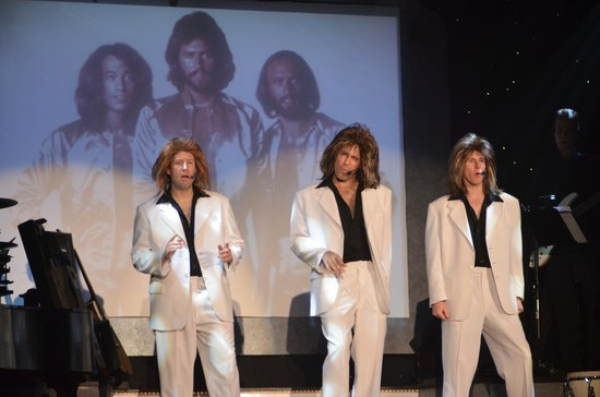 Historic Savannah Theatre : Stephen Dobson, Mike Zaller and Matt Meece as the Bee Gees