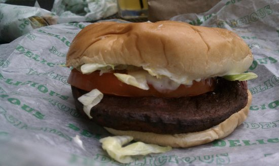 Mike & Jeff's BBQ: Thick cut fried bologna sandwich.