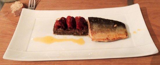 La Buissonniere: Omble chevalier au caviar d'aubergine et chorizo...