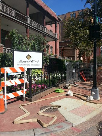 Morrison-Clark Historic Inn: Unrelated Street work that is not an issue