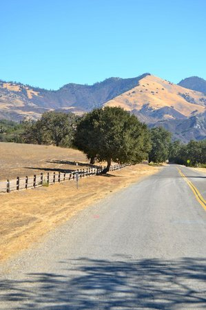 Neverland Ranch : Neverland is on the left side of Figueroa Mtn Rd