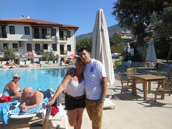 Saray Hotel: me + Michael @ Saray pool