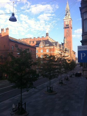 Hotel Danmark: foto scattata dalla finestra, vista dalla camera