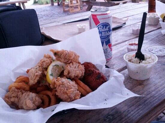 Timoti's Seafood Shack: fried oyster basket