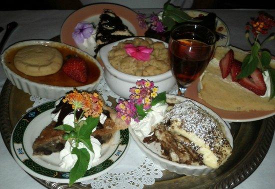 Colington Cafe's tray of homemade desserts.