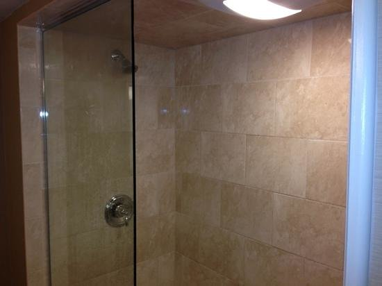 Bushkill Inn & Conference Center: beautiful walkin glass enclosed shower