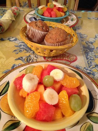 The Harbour Cottage Inn: Muffins and Fruit