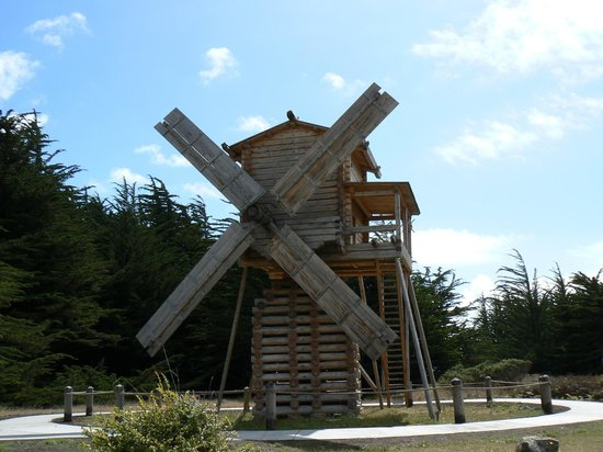Fort Ross State Historic Park: Russian style windmill at Fort Ross