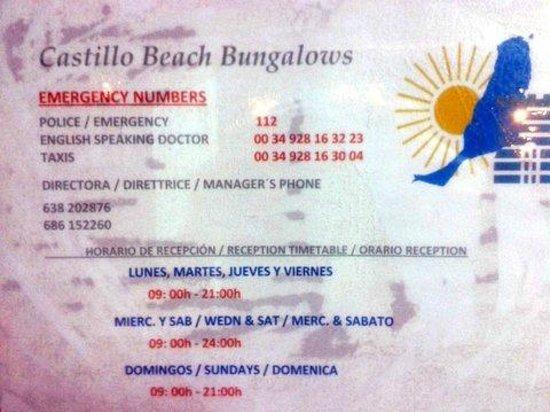 Castillo Beach: horario