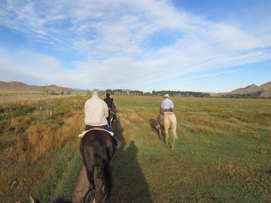 Ranch at Ucross: On horseback