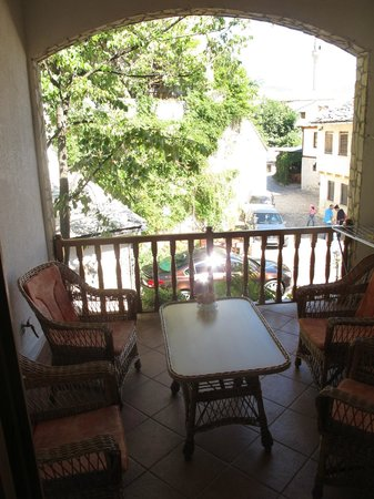 Pansion Cardak: The balcony of our room