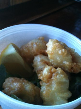 Skippers Floating Eatery: 5 Scallops- can order what amount you like